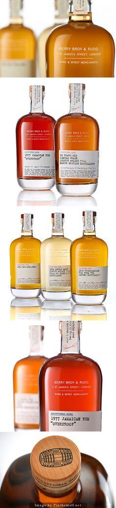 Beautiful packaging design: spirit glass bottles., branding, graphic design                                                                                                                                                      More