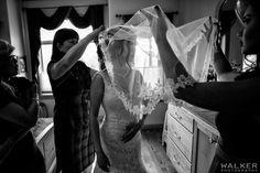 Bride getting ready by Walker Photography www.walkerphoto.ca