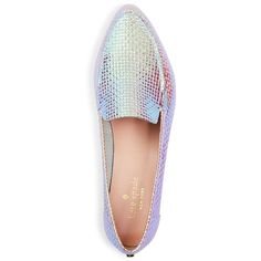 kate spade new york Carima Embossed Loafers (12.045 RUB) ❤ liked on Polyvore featuring shoes, loafers, kate spade loafers, loafer shoes, loafers moccasins, hologram shoes and kate spade