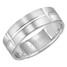 Studded Warren wedding band for him From ArtCarved More at