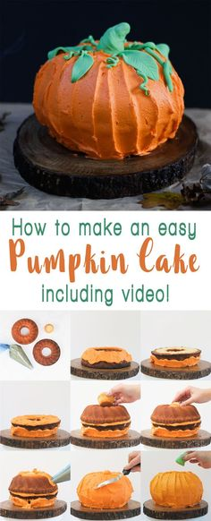 Holidays: How to make a Pumpkin Bundt Cake - Perfect for Hal... Halloween Desserts, Holiday Desserts, Holiday Baking, Holiday Treats, Halloween Ideas, Easy Halloween Cakes, Food Cakes, Cupcake Cakes, Cupcakes