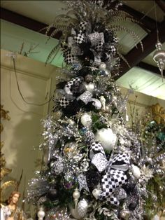 black and white christmas spectacular tree for the trade only all rights reserved made by paola boscan - Black And White Christmas Tree Decorations