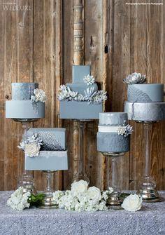 Grey wedding cake ideas