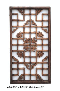 Chinese Old Restored Window Panel Wall Decor - Golden Lotus Antiques