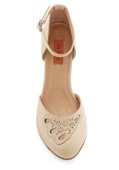 Miz Mooz Petal to the Plaza Heel in Beige | Mod Retro Vintage Heels | ModCloth.com