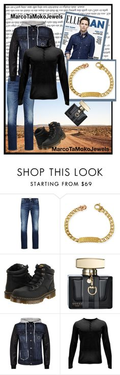 """Marco Ta Moko 52"" by barbara-996 ❤ liked on Polyvore featuring Spell & the Gypsy Collective, Jack & Jones, Marco Ta Moko, Dr. Martens, Gucci, Philipp Plein, Spyder, men's fashion and menswear"