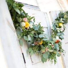 Blätter-Girlande zum Hochzeitsfest Flower Bouquet Wedding, Floral Wreath, Wreaths, Green, Plants, Decor, Weddings, Pink, Garland Wedding