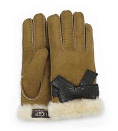 UGG® Josette Glove w/Deco Bow   Free shipping at UGGAustralia.com