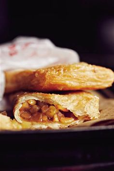 Mickey D's-style fried apple pies made with flaky, crispy roti bread.