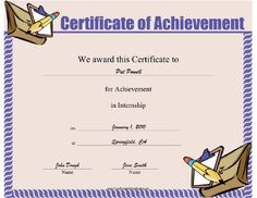 This certificate should be presented to an intern in appreciation this internship achievement certificate features courier bag clipboard and pencil present it to yadclub Images