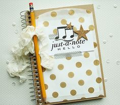 Musical Notebook by Danielle Flanders for Papertrey Ink (January 2014)