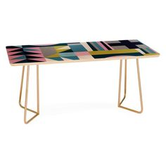 Design a living room with personality plus by adding the colorful geo print Deny Designs Emmie K Modern Love Coffee Table . Oakland Apartment, Personal Image, City Living, Living Room, Modern Love, Leaf Table, Community Art, Custom Furniture, Home Furnishings