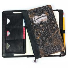 Hand made leather Moleskine and iPad cases. Unique designs, all made in the USA. Journal Covers, Moleskine, Composition, Pencil Holder, Wallet, Nifty, Unique, Journals, Strength
