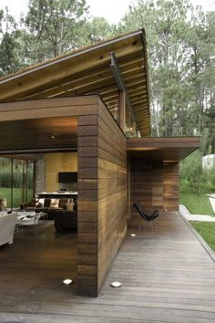 Cabana, Patio Roof Covers, Hot Tub Pergola, Frank Lloyd Wright Homes, Modern Mountain Home, Brick And Wood, Cheap Houses, Tiny House Plans, Wooden House