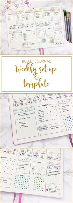 Bullet Journal Weekly Set Up & Template #weeklyspread