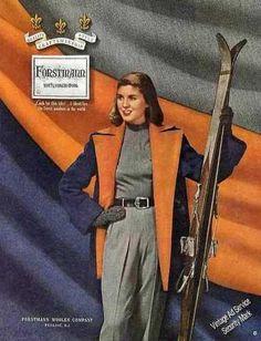 1948 Forstman Woolens Ski Fashions ad.