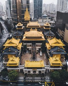 ― China Highlights( 「Jing'an Temple is one of the most famous temples in Shanghai. In it was put on the list of…」 Architecture Du Japon, Architecture Antique, Ancient Chinese Architecture, Beautiful Architecture, Architecture Design, China Travel, Japan Travel, Vietnam Travel, Africa Travel