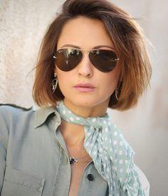 ray-ban aviator sunglasses portrait