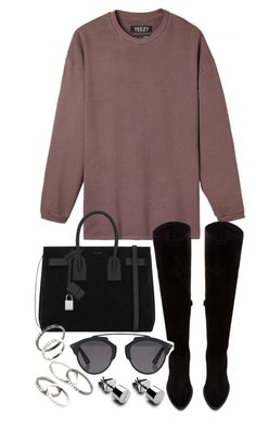 """Untitled #19944"" by florencia95 ❤ liked on Polyvore featuring adidas Originals, Yves Saint Laurent, Zara, Christian Dior and MANGO"