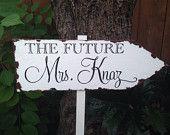 La futura mrs, freccia rustico nuziale doccia