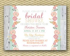 Rustic Country Bridal/Wedding or Baby Shower Invitation - Garden Floral. $15.00, via Etsy.