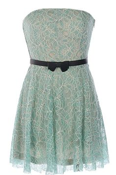 Mint Daydream Dress | Strapless Green Lace Bridesmaid Dresses | RicketyRack.com