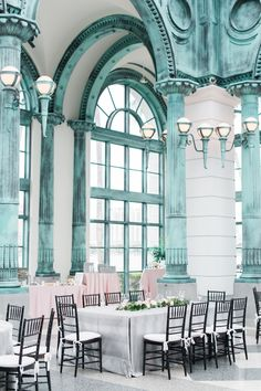 Something about the color of the ceilings and the simplicity of the chairs // Photography: Shea Christine Photography