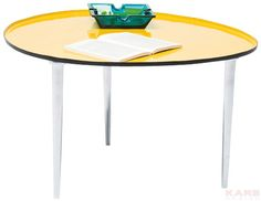 Coffee Table Egg Yellow 57x62cm KARE 129