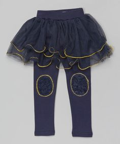3028bbf16ba1 Blossom Couture Navy Lace Skirted Leggings - Toddler   Girls