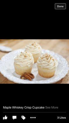 Rye Maple Crisp Cupcakes  (Whiskey)