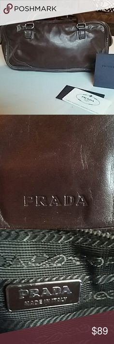 Prada clutch bag Supple small little brown Prada bag Prada Bags Clutches & Wristlets