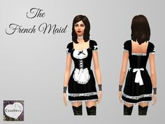 Every posh sim's household needs a maid. Don't just hire one. Control one! This cute maids outfit comes complete with a maid's dress and apron with black layers, white lace trims and bows, a white...