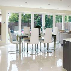 Crisp white dining room | Dining room decorating ideas | housetohome.co.uk