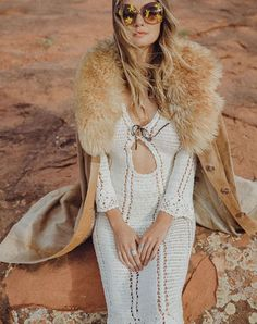 For years, the iconic photo of Jane Birkin in the low-cut crochet dress has been engrained in our minds. Finally, this incredible dress has been re-invented through our design collaboration with music