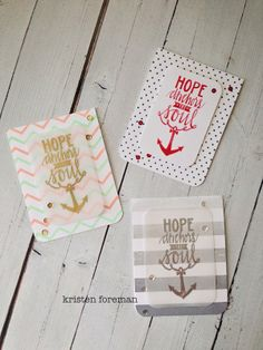 Neat and Tangled: Hope Anchors. Love these clean & simple designs
