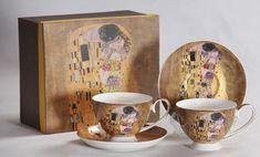 Gustav Klimt, Box, Cups, Beige, Tableware, Collection, Casket, Porcelain, Gift