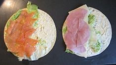 Recipe: Wraps with salmon and cheese / ham picture no. 4 Recipe: Wraps with salmon and cheese / ham picture no. Pinwheel Sandwiches, Wrap Sandwiches, Gourmet Sandwiches, Sandwich Recipes, Vegan Breakfast Recipes, Snack Recipes, Yummy Snacks, Healthy Snacks, Sandwich Packaging