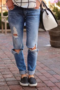 The perfect pair of distressed jeans