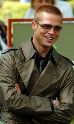 Brad Pitt with a beautiful smile.