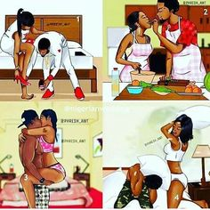 Which image best describes your relationship! 1 2 3 or 4 Fashion Illustrator Sexy Black Art, Black Girl Art, Black Women Art, Black Couple Art, Black Couples, Cute Couples, Black Love Artwork, Black Art Pictures, Freaky Relationship Goals