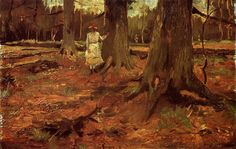 Vincent van Gogh A Girl in White in the Woods painting for sale - Vincent van Gogh A Girl in White in the Woods is handmade art reproduction; You can buy Vincent van Gogh A Girl in White in the Woods painting on canvas or frame. Vincent Van Gogh Pinturas, Vincent Willem Van Gogh, Van Gogh Arte, La Haye, Book Art, Van Gogh Paintings, Art Van, Post Impressionism, Oil Painting Reproductions