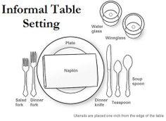 #Thanksgiving Table Setting ~ An #informal setting is used for a basic three course  sc 1 st  Pinterest & Zack Harris (zack0211) on Pinterest