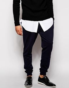 ASOS Skinny Joggers With Zip Fly And Button Detail