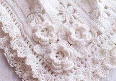 Darling Baby Blanket With Roses Free Crochet Pattern [Video Tutorial+ Free Pattern]