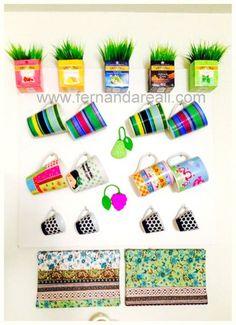 Minha cozinha - Vasos com Caixas de Chá - Fernanda Reali #Reuse #DIY