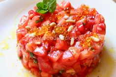 Chef Recipes, Salad Recipes, Cooking Recipes, Healthy Recipes, Tartare Recipe, A Food, Food And Drink, Food Decoration, Bruschetta