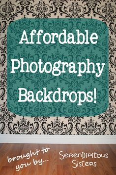 Our photography prop shop, Serendipitous Sisters , will now be offering super cute, super durable, super affordable photography backdrops! ...