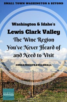 Washington & Idaho's Lewis Clark Valley is one of those wine regions that many don't know about, but it should be on any wine lovers radar as this area is producing plenty of award-winning wines and has amazing views. #winetasting #wine #winery