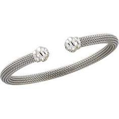 #Platinum Mesh Bangle #Bracelet