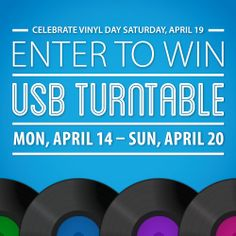 Dust off those records or find some new tunes Half Price Books Vinyl Day! Plus, enter to win a USB Turntable by 4/20! http://hpb.com/vinyl